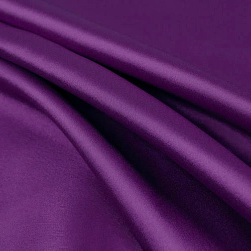 Payton JEWEL PURPLE Faux Silk Stretch Charmeuse Satin Fabric by the Yard