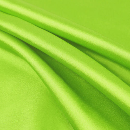 Payton LIME GREEN Faux Silk Stretch Charmeuse Satin Fabric by the Yard