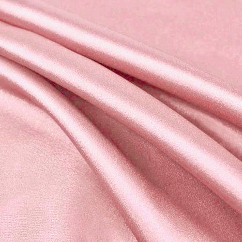 Payton PINK Faux Silk Stretch Charmeuse Satin Fabric by the Yard