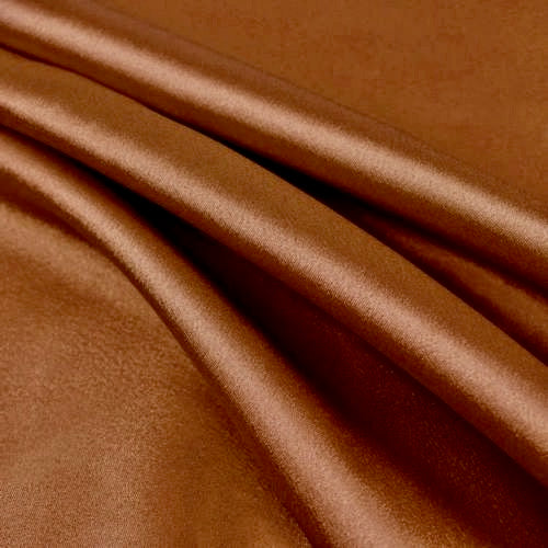 Payton RUST Faux Silk Stretch Charmeuse Satin Fabric by the Yard
