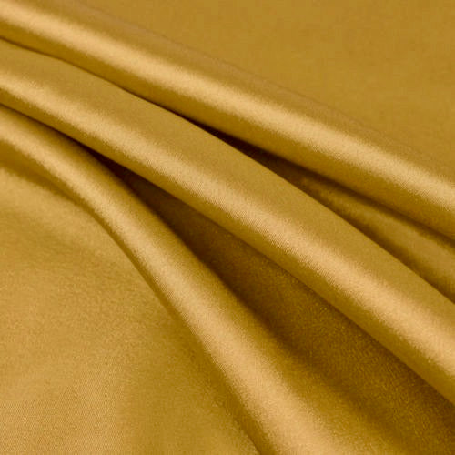 Payton SUNGOLD Faux Silk Stretch Charmeuse Satin Fabric by the Yard