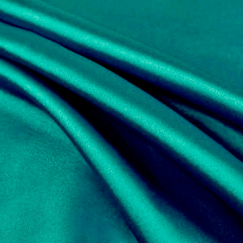 Payton TEAL GREEN Faux Silk Stretch Charmeuse Satin Fabric by the Yard