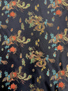 Hope BLACK Dragon Brocade Chinese Satin Fabric by the Yard