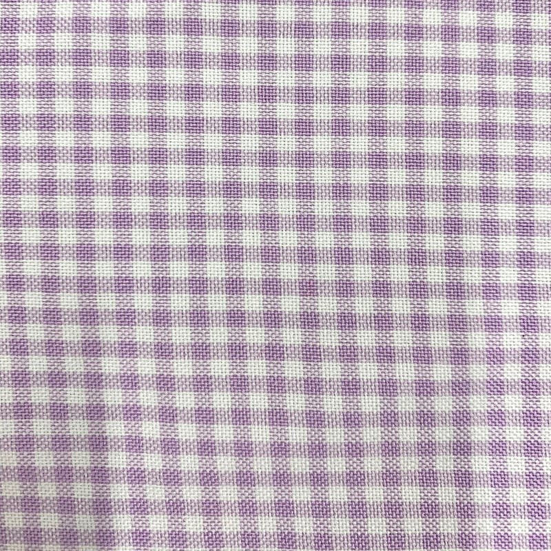 Keira LAVENDER Mini Checkered Poly Poplin Fabric by the Yard
