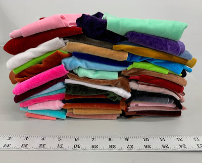 Copy of River 2 VARIOUS COLORS Polyester Stretch Velvet Fabric Scraps/Remnants/Off Cuts for Scrunchies, Headbands, Ribbons, Patterns, Crafts