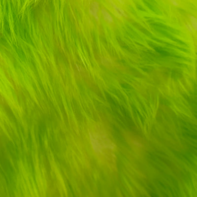 Bristol LIME GREEN Tip Candy Shag Long Pile Soft Faux Fur Fabric for Fursuit, Cosplay Costume, Photo Prop, Trim, Throw Pillow, Crafts