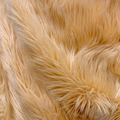 Sasha BEIGE Long Pile Soft Luxury Faux Fur Fabric Fursuit, Cosplay Costume, Photo Prop, Trim, Throw Pillow, Crafts