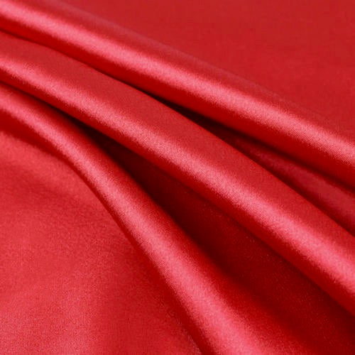 Payton RED Faux Silk Stretch Charmeuse Satin Fabric by the Yard