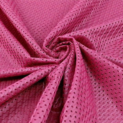 Sawyer HOT PINK Polyester Football Sports Mesh Knit Fabric by the Yard - 10047