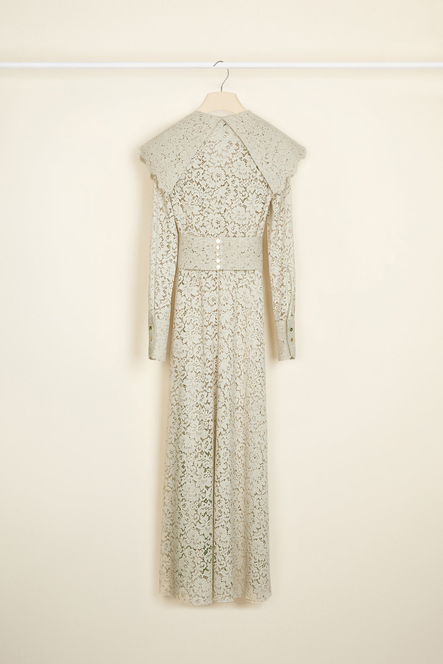 Patou - Lace dress with wide collar