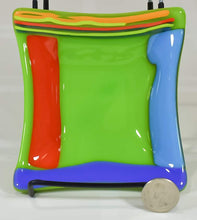 "Load image into Gallery viewer, ""Caribbean"" Colors Glass Dish by Heather Richman"