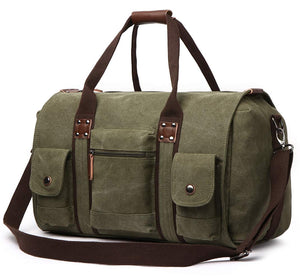 FIDAROOMY Travel Duffel Bags Canvas Weekend Tote Bag Overnight Bag for Men and Women