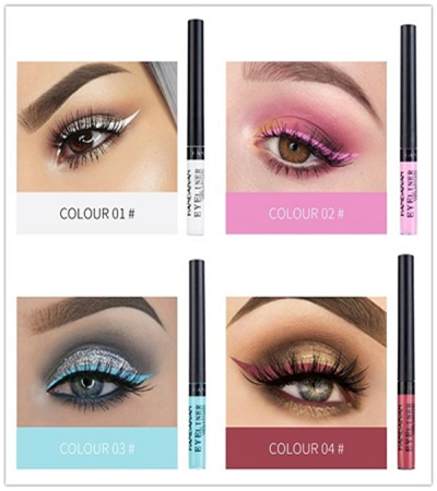 Super Liquid And Waterproof-12 Colorful Eyeliner