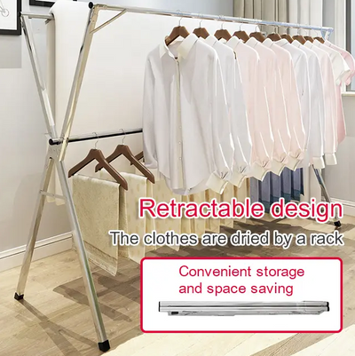 Retractable folding drying rack