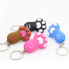 4 Colors LED Paw Torch Flashlight Key Chain with Sound