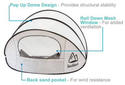 SunShack Pop Up Beach Shade