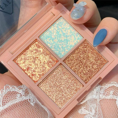 4 Color Glitter Eye Shadow Palette