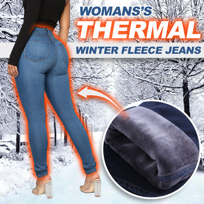 Women's Thermal Winter Fleece Jeans