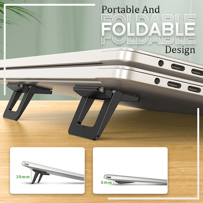 Self-Adhesive Invisible Laptop Stand