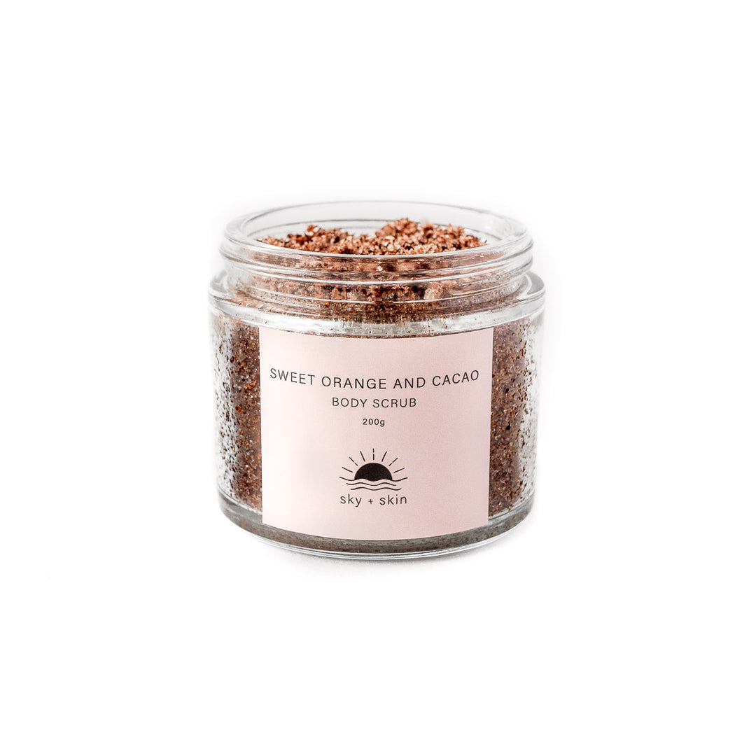 Sweet Orange and Cacao Body Scrub 200g