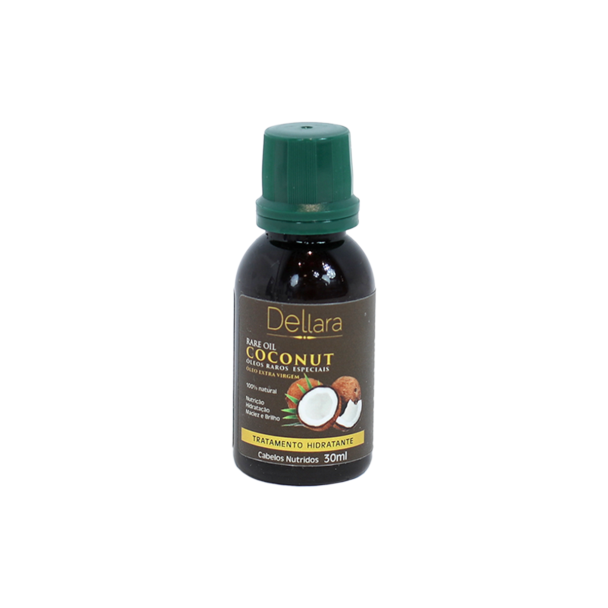 Coconut Oil 30ml - Dellara Cosméticos