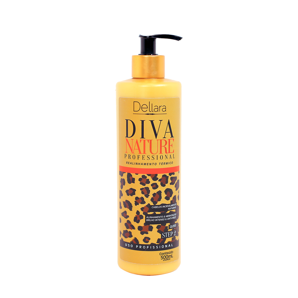 Gloss Diva Nature 500ml - Dellara Cosméticos