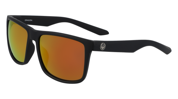 Dragon Meridien LL Matte Black Orange Ion Sunglasses