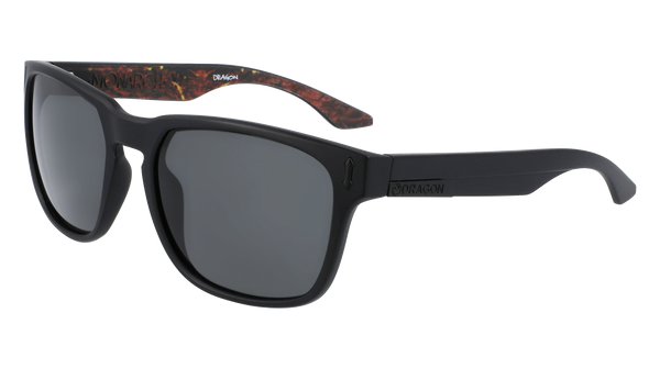 Dragon Monarch XL LL Matte Black Inferno Smoke Sunglasses