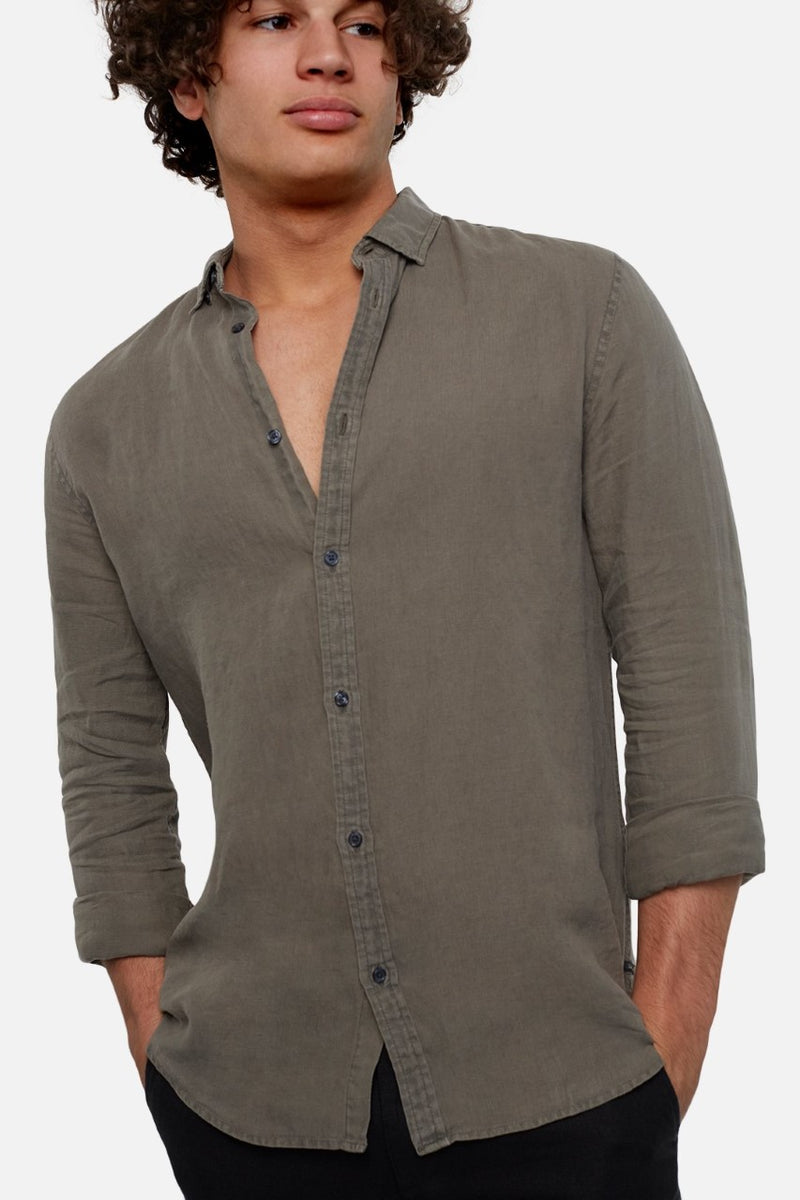 Industrie The Tennyson Linen LS Shirt