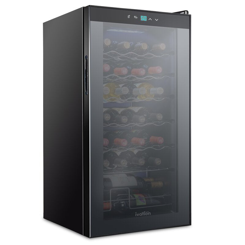 28 Bottle Compressor Wine Cooler Refrigerator - Ivation Wine Coolers