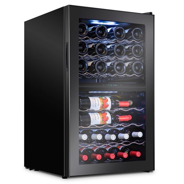 43 Bottle Dual Zone Freestanding Wine Refrigerator - Ivation Wine Coolers