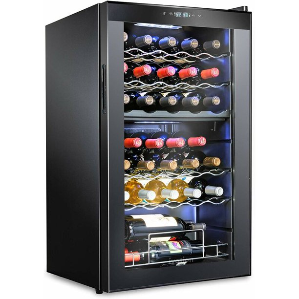 33 Bottle Dual Zone Wine Cooler Refrigerator - Ivation Wine Coolers