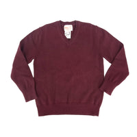 Cotton V Neck Sweater Maroon 101VP