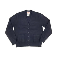 Cotton Button Down Sweater Navy 104BD
