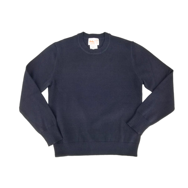 Cotton Crew Neck Sweater Navy 104CP