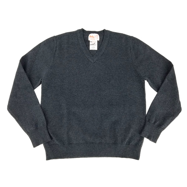 Cotton V Neck Sweater Grey 105VP