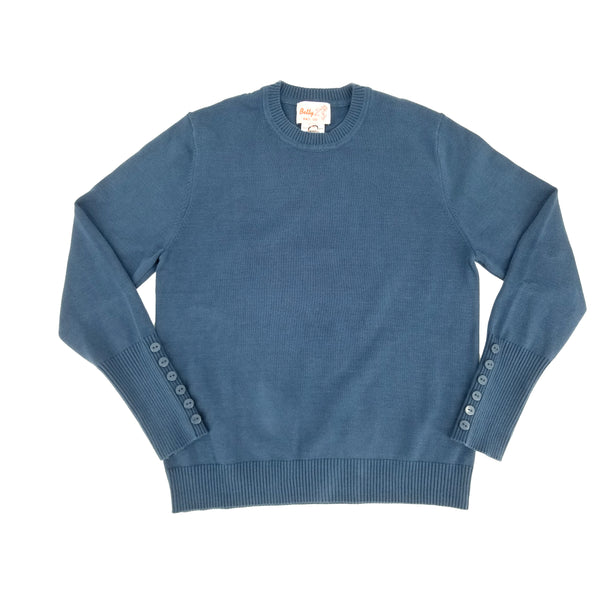 Cotton Crew Neck Sweater Teal 106CP