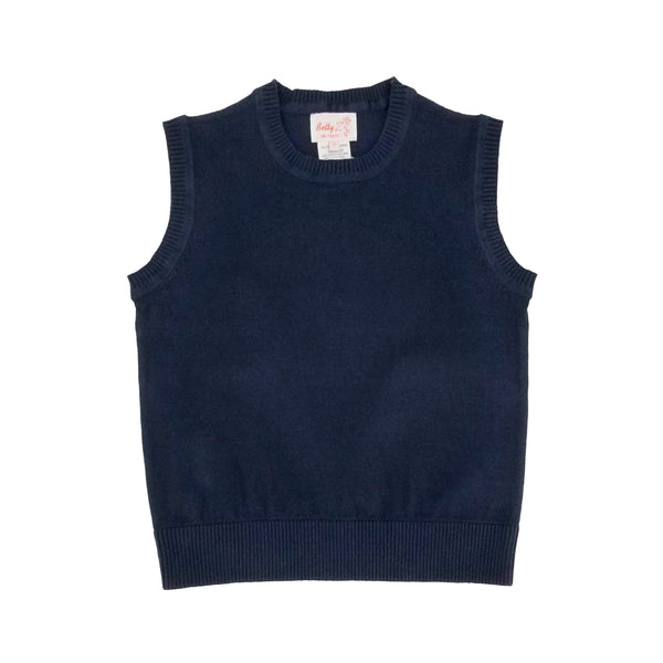 Cotton Crew Neck Vest Light Navy 107C