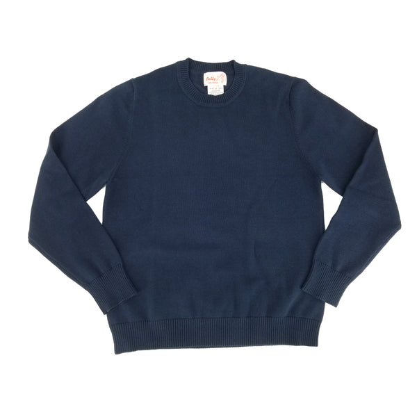 Cotton Crew Neck Pullover Light Navy 107CP