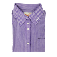 betty z - purple checked gingham - girls shirt - torah academy school in far rockaway uniform