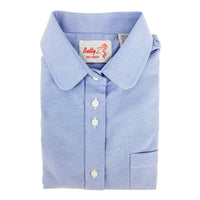 Light Blue Round Collar Shirt
