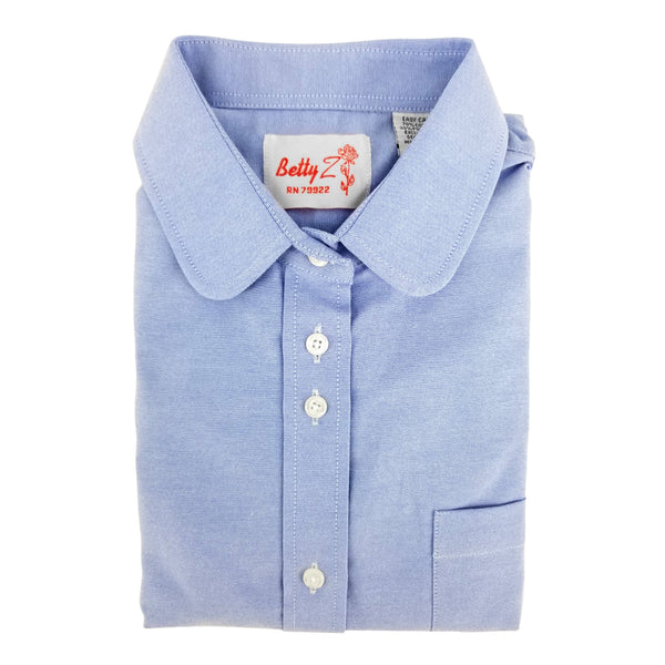 light blue oxford uniform blouse