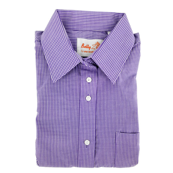 amethyst checked girls shirt