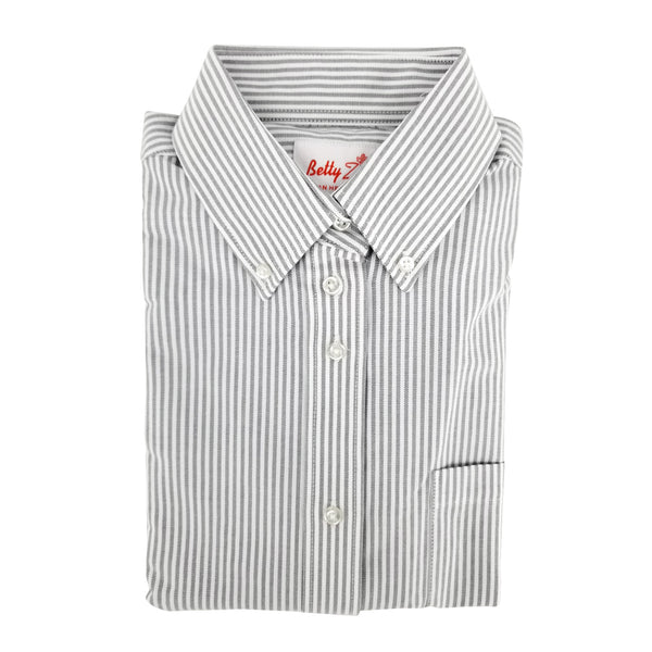 grey striped girls blouse