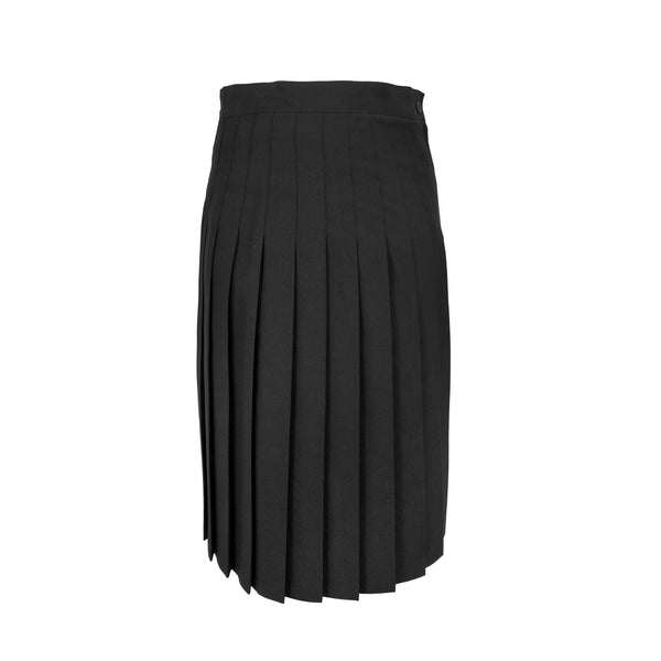 black - fully pleated skirt - ankle length - polyester