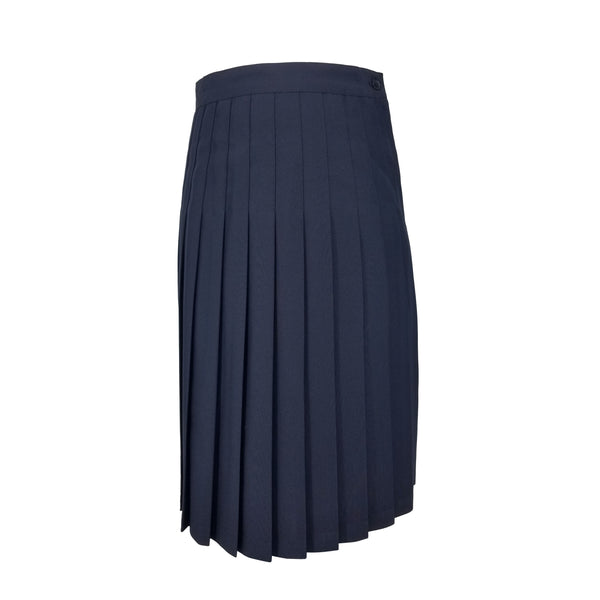 navy pleated long skirt