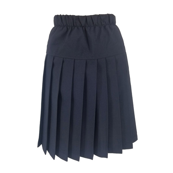 Yoke Skirt Navy Poly