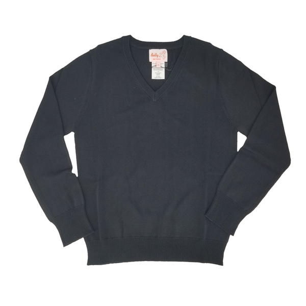 Rayon V Neck Sweater Black 202VP