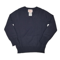Rayon V Neck Sweater Navy 204VP