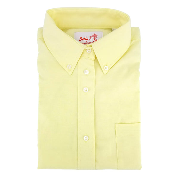 betty z - yellow oxford blouse - long sleeves - girls school uniform